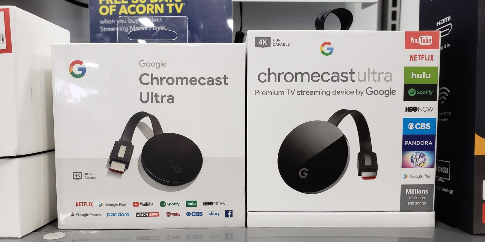 Google quietly revamps Chromecast and Chromecast Ultra packaging to