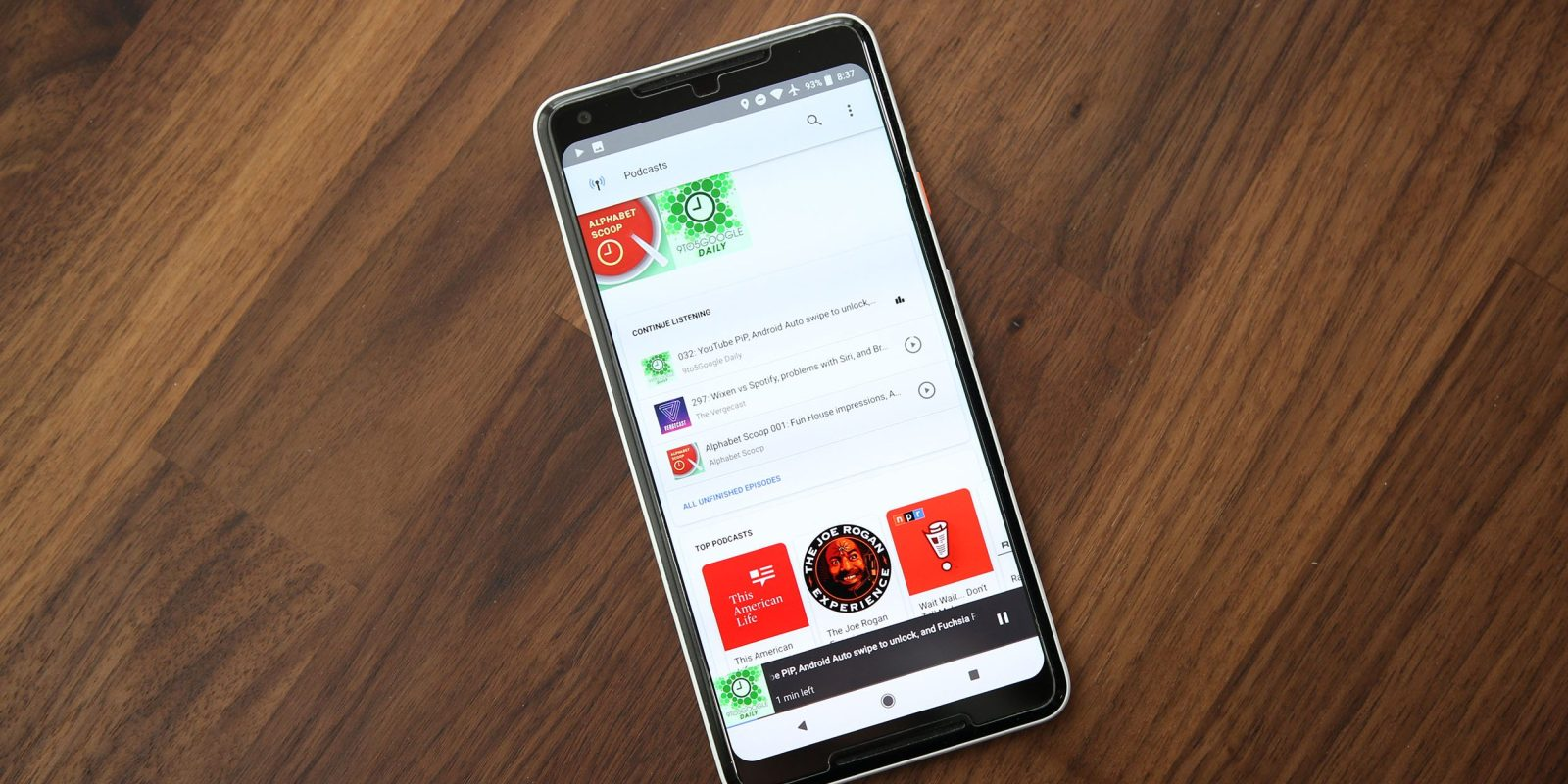 Google app's built-in podcast player adds offline