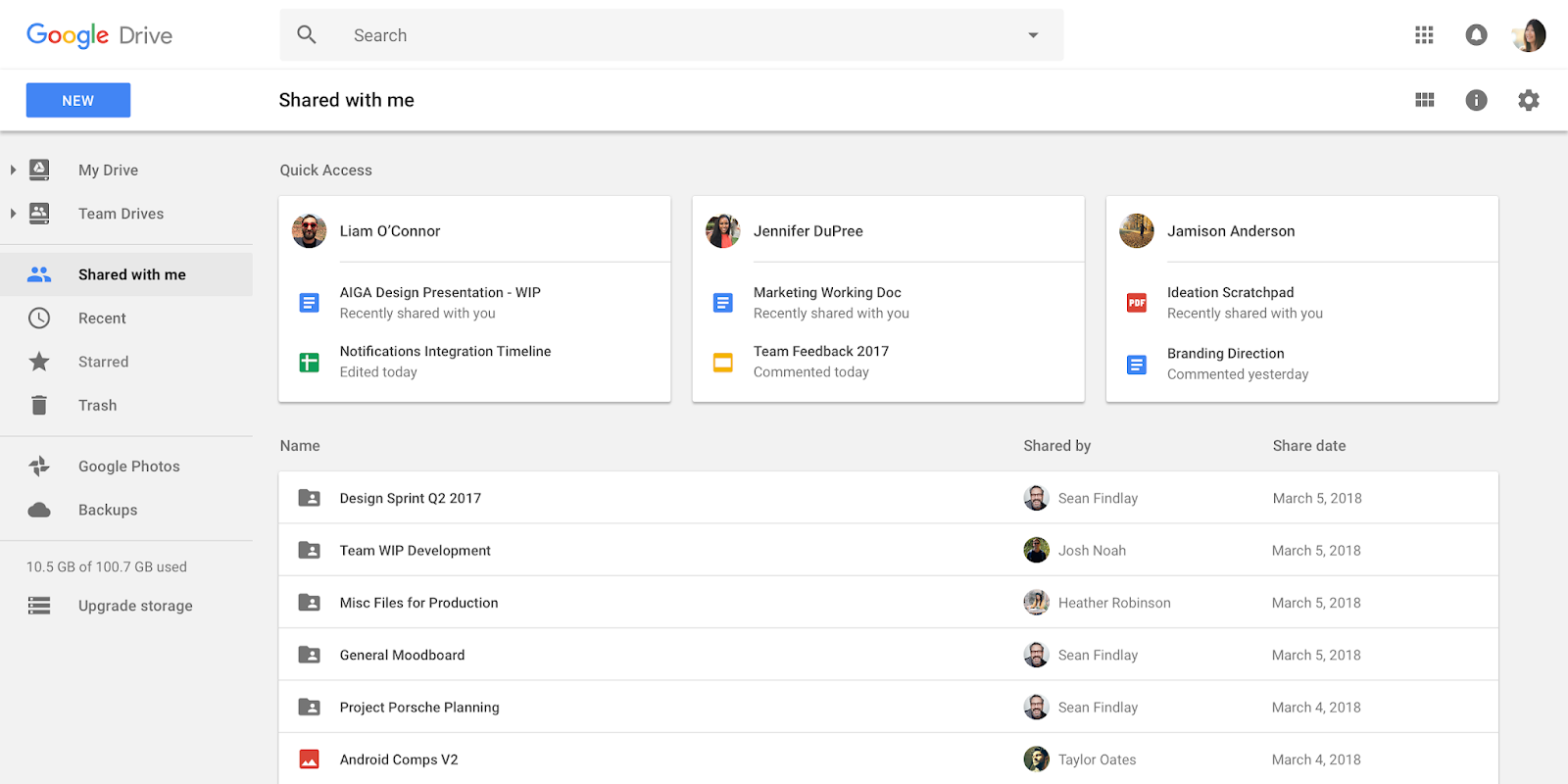 Google Drive's file system gets a revamp w/ AI smarts for