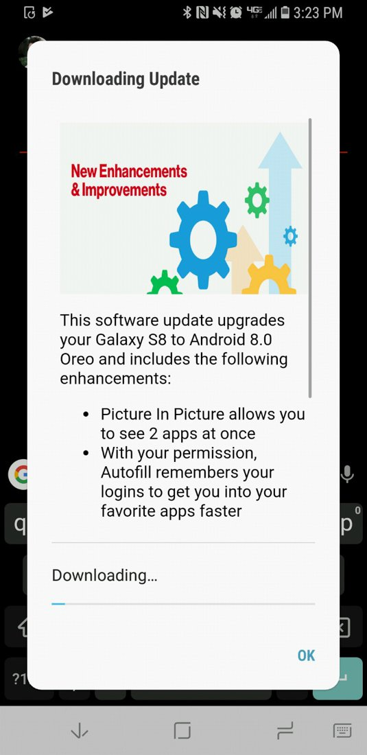 Samsung Galaxy S8/S8+ starting to pick up Android Oreo in