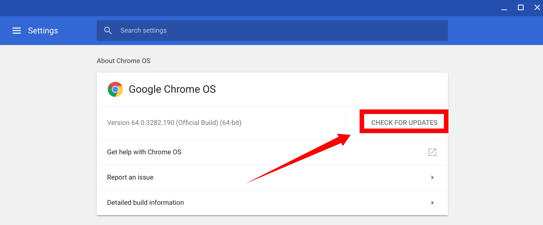 Chrome OS How to update