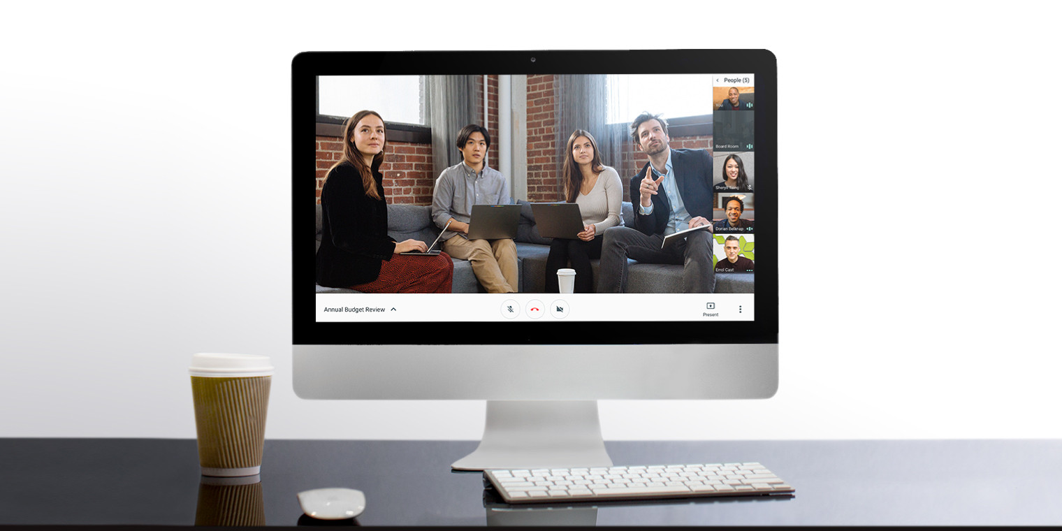 hangouts meet adds live streaming for up to 100k participants