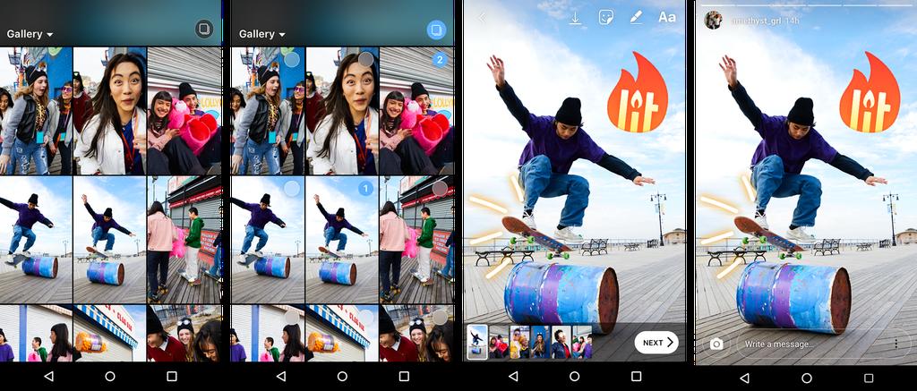 Instagram Stories Simultaneous Upload