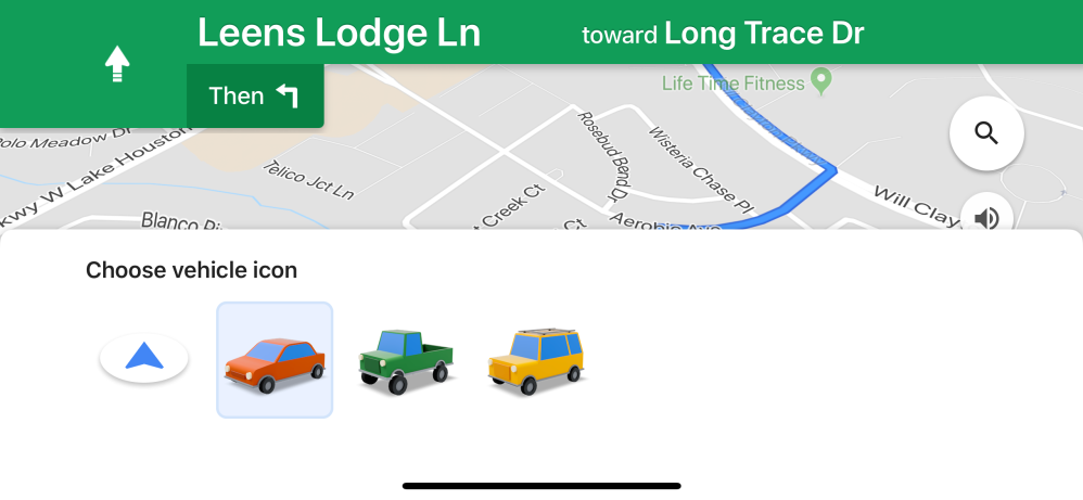 Customizable car navigation icons are coming to Google Maps for