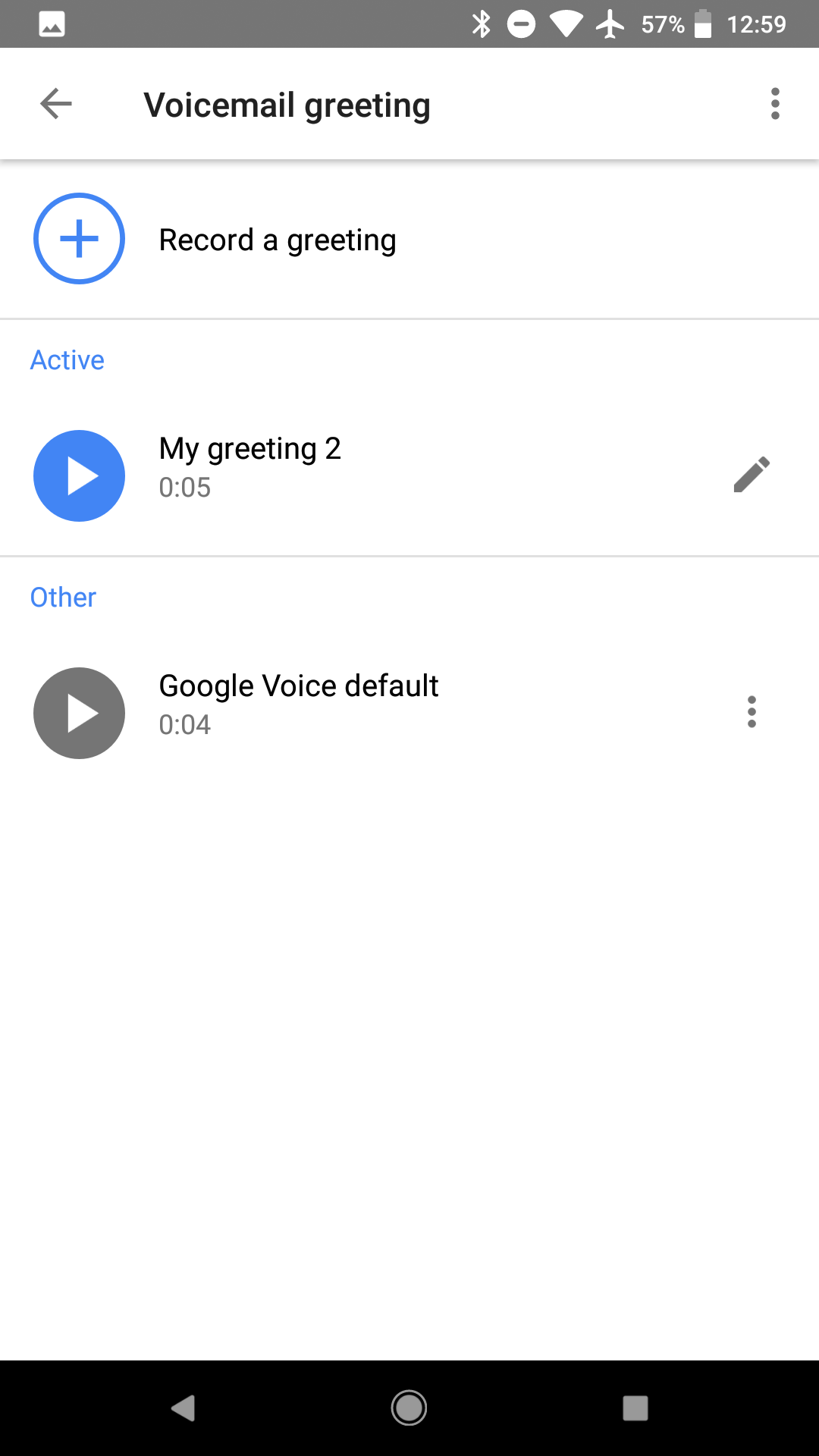 Google voice now lets you record voicemail greetings on android and google voice 5 10 voicemail 4 m4hsunfo