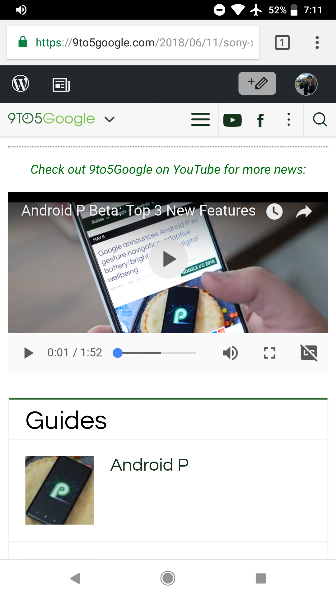 Chrome 67 for Android redesigns video player w/ clean