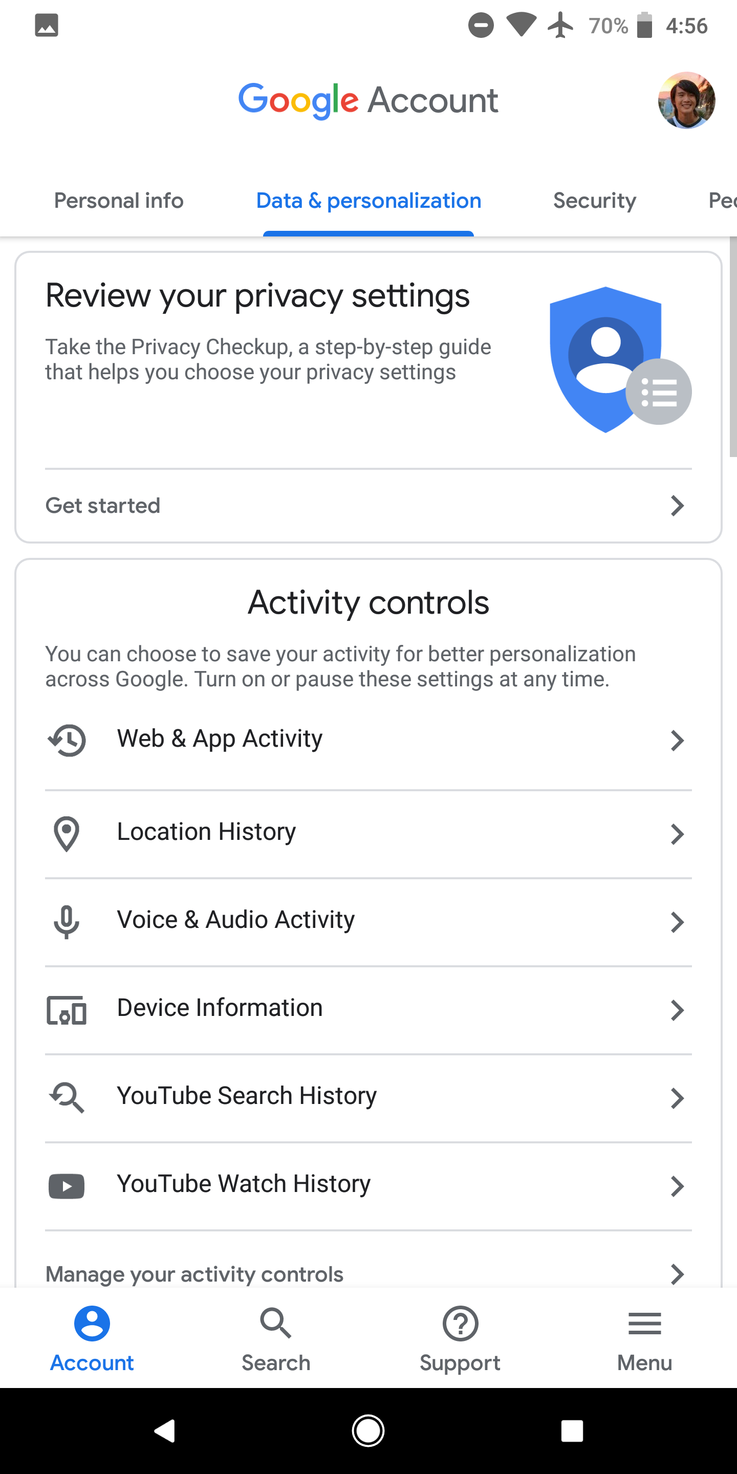 android settings activity 2018