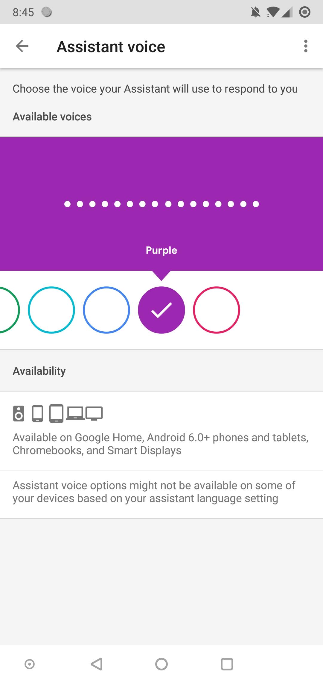 Google app 8 8 preps color-based labels for Assistant voices