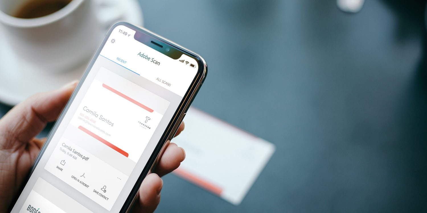 Adobe scan android app can now scan business cards to contacts with adobe scan android app can now scan business cards to contacts with 99 accuracy reheart Choice Image