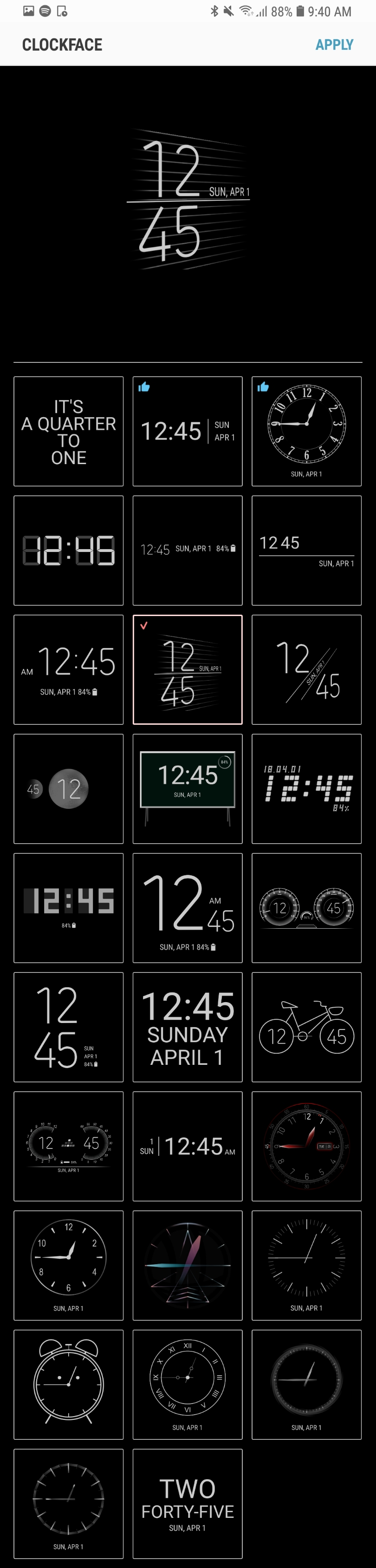 Samsung adds nearly 30 new clockfaces to 'Always-On Display