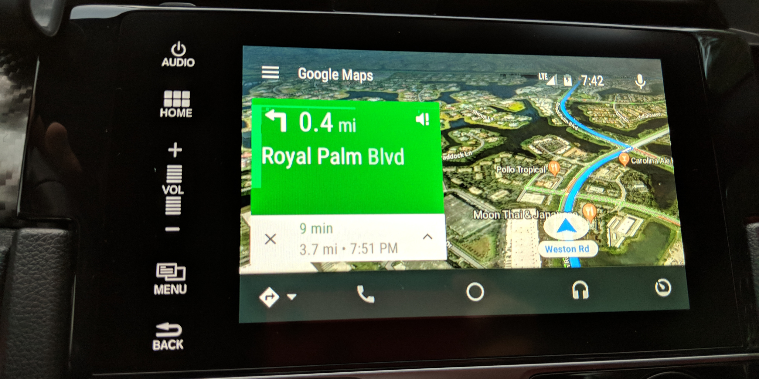 google maps on android auto now has a satellite view