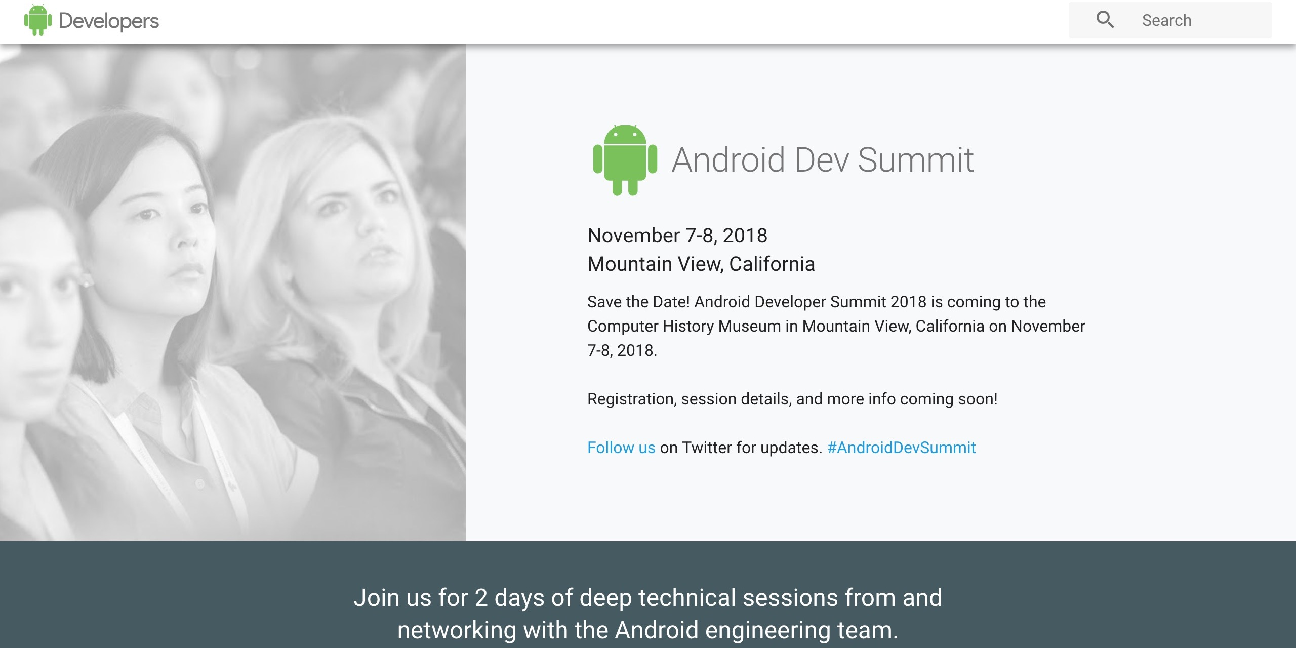 google bringing back the android dev summit w 2018 conference set for november 7 8
