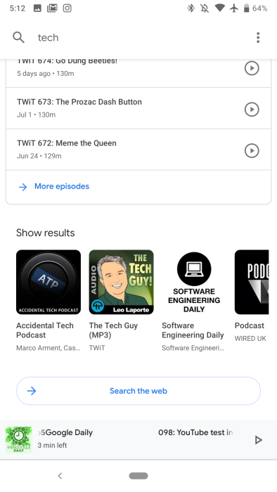 Google app 8 12 preps deprecating 'Feed' widget, Podcasts