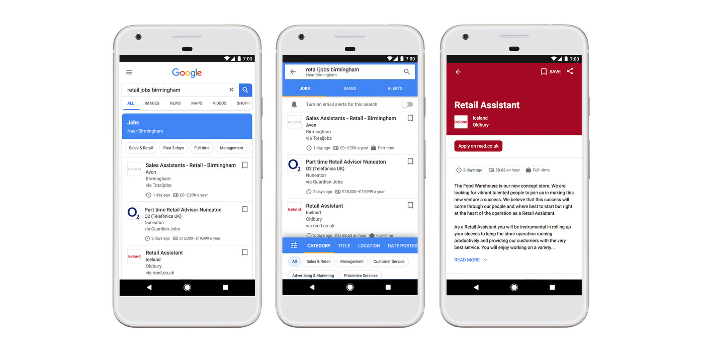 google s handy job search tool is now available in the uk