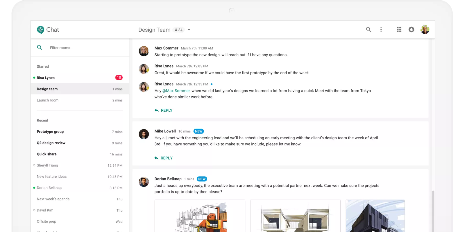 Hangouts Chat on the web updated w/ various Google ...