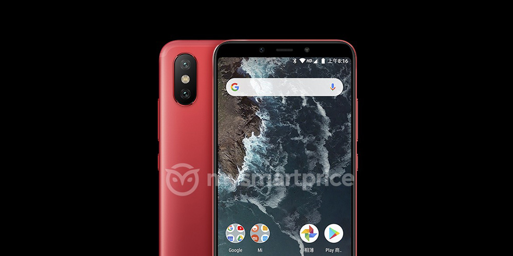 leaked renders show off xiaomi mi a2 w android one software three color variants