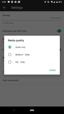 YouTube Music 2 39 preps seperate audio & video quality for offline