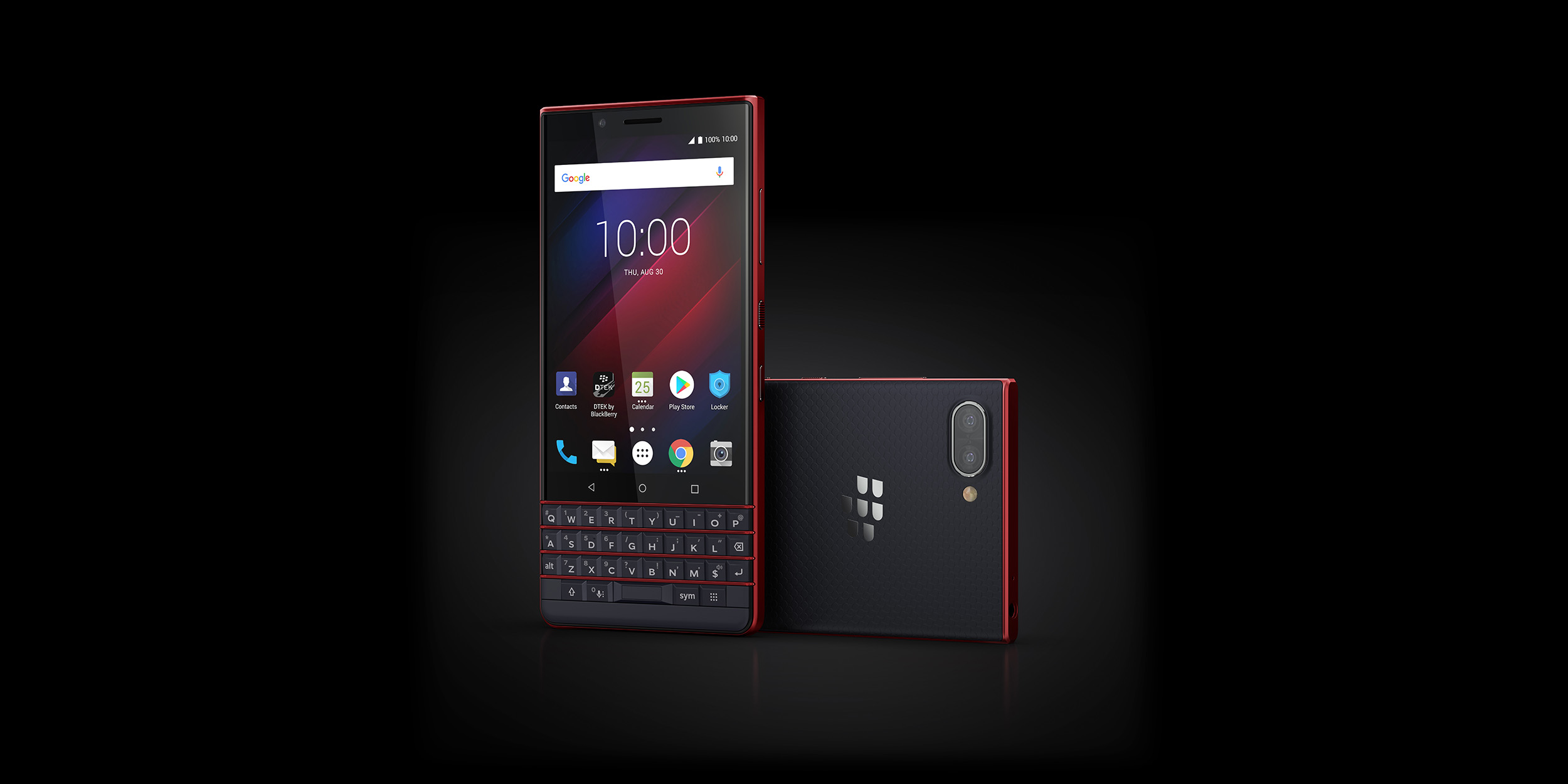 Image result for blackberry keytwo red