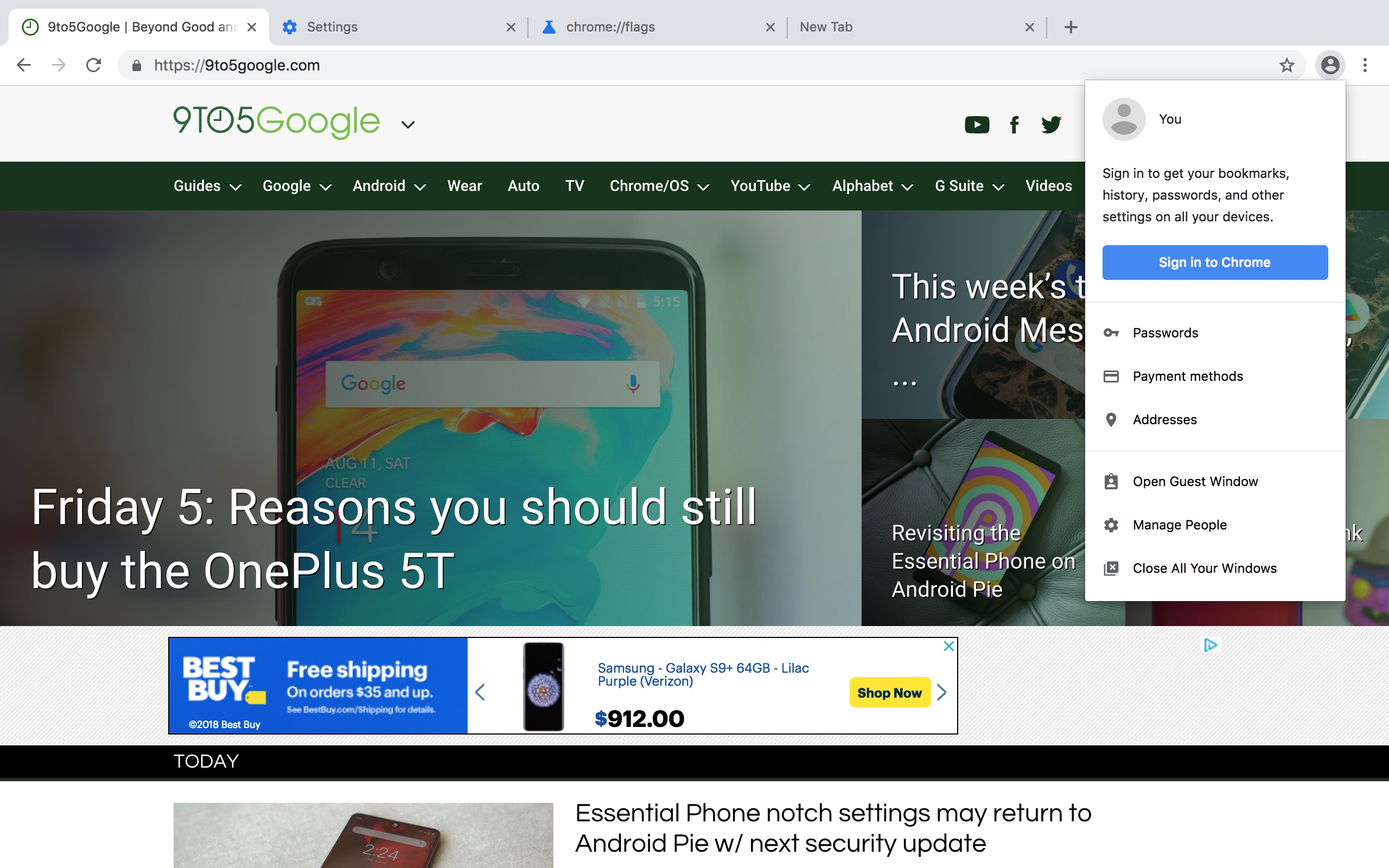 Chrome 69 rolling out 'Material Design refresh' next month 'across