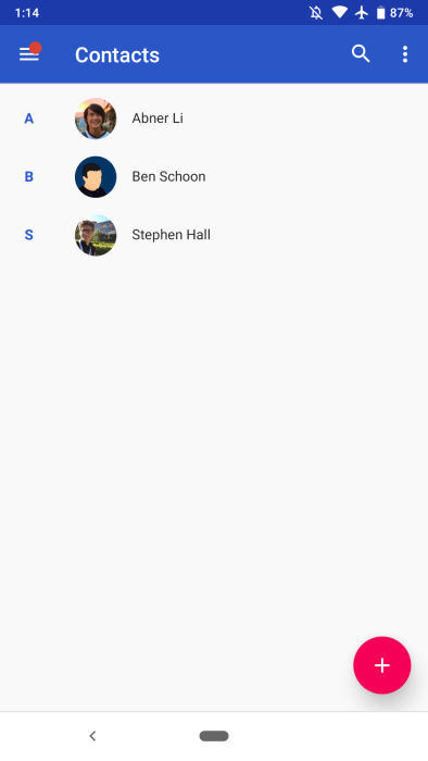 Google Contacts 3 0 brings Material Theme redesign to Android