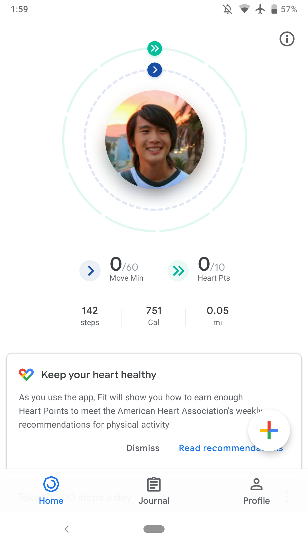 Scrolling Down Further In The Home Tab Are Graphs For Step Count Heart Rate If Available And Weight