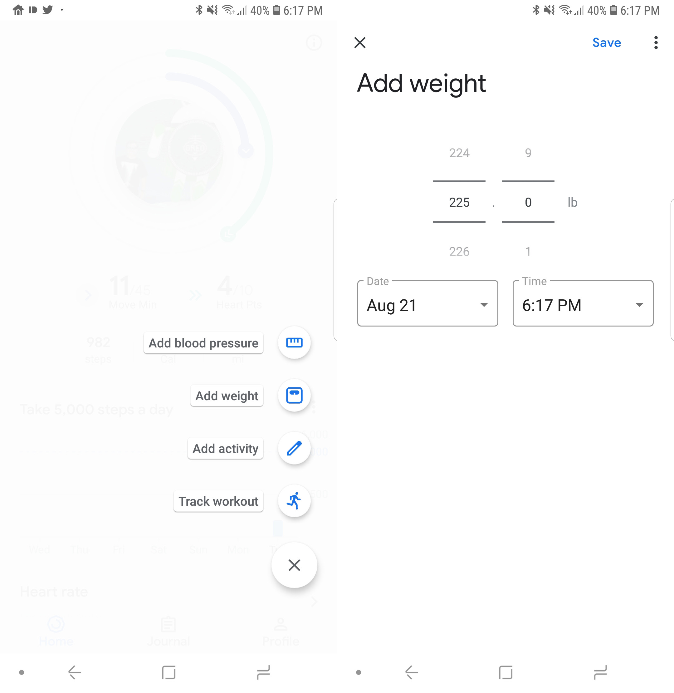 how to track your weight workouts and blood pressure with google