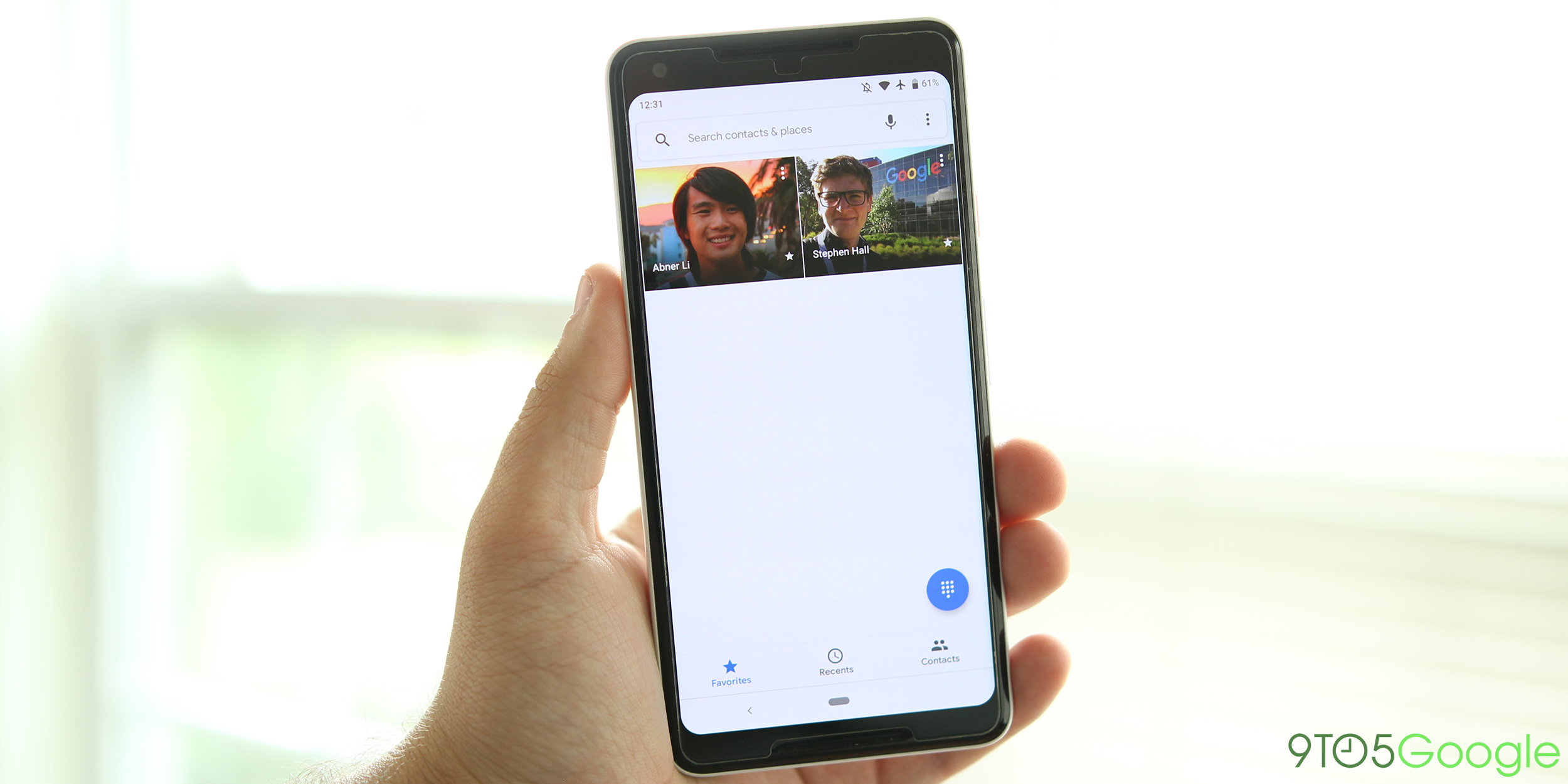 google phone gains material theme redesign with latest beta gallery