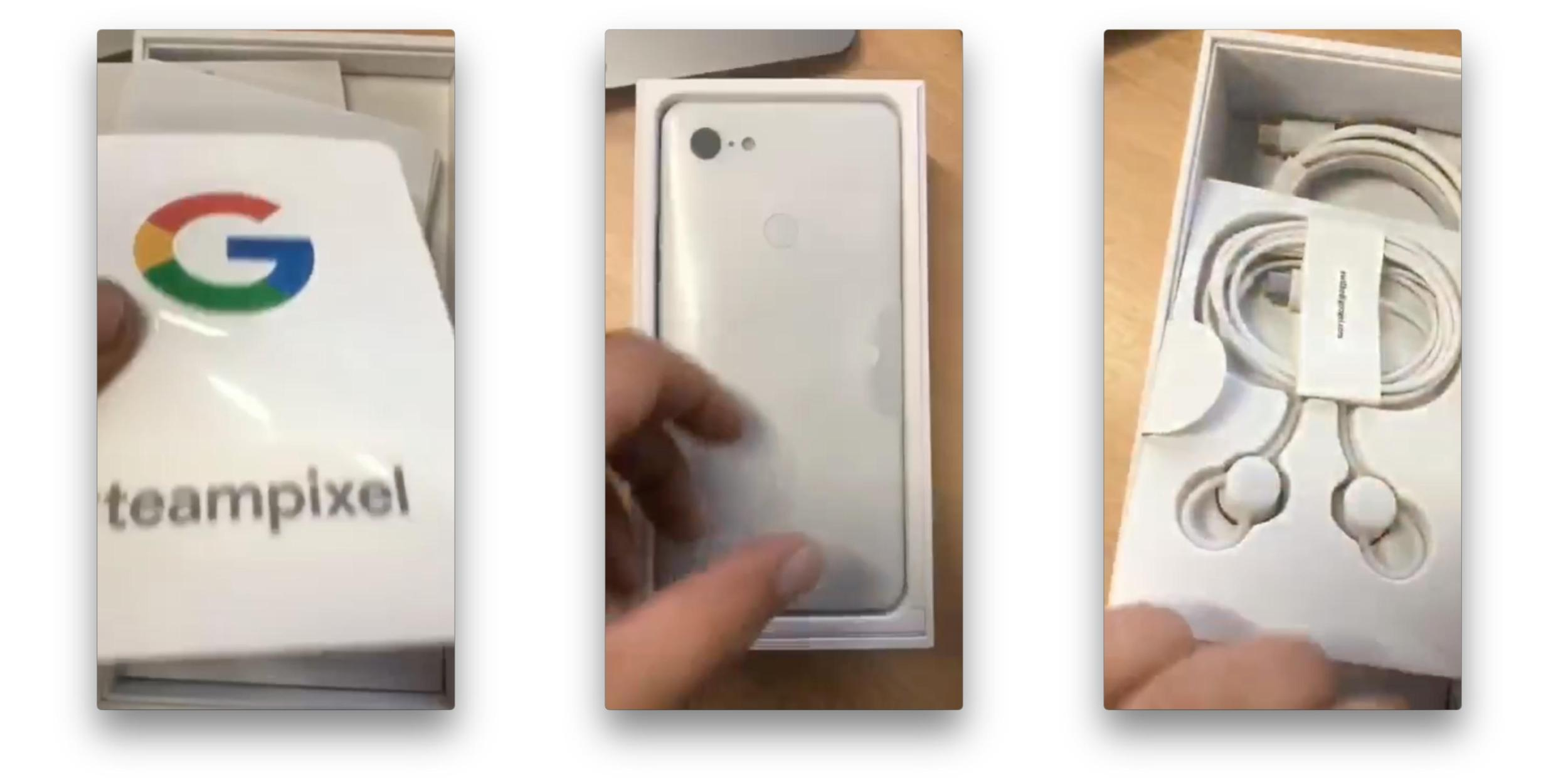 google pixel 3 xl leaked in unboxing includes usb c pixel buds teampixel sticker gallery