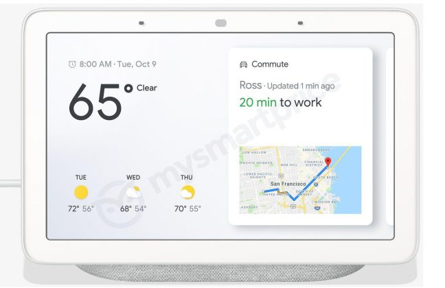 google home hub is google s first party smart display leaks in new renders