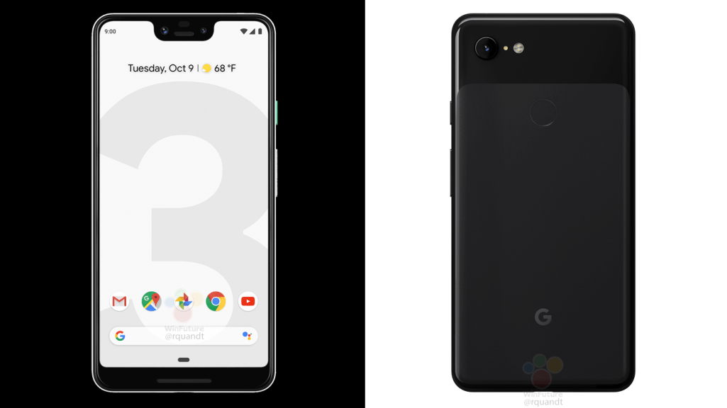 official looking google pixel 3 pixel 3 xl marketing images leak in black and white