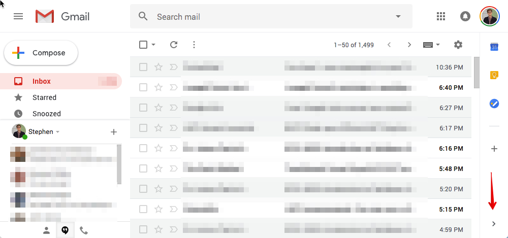 don t like gmail s new sidebar now you can hide it with a single click