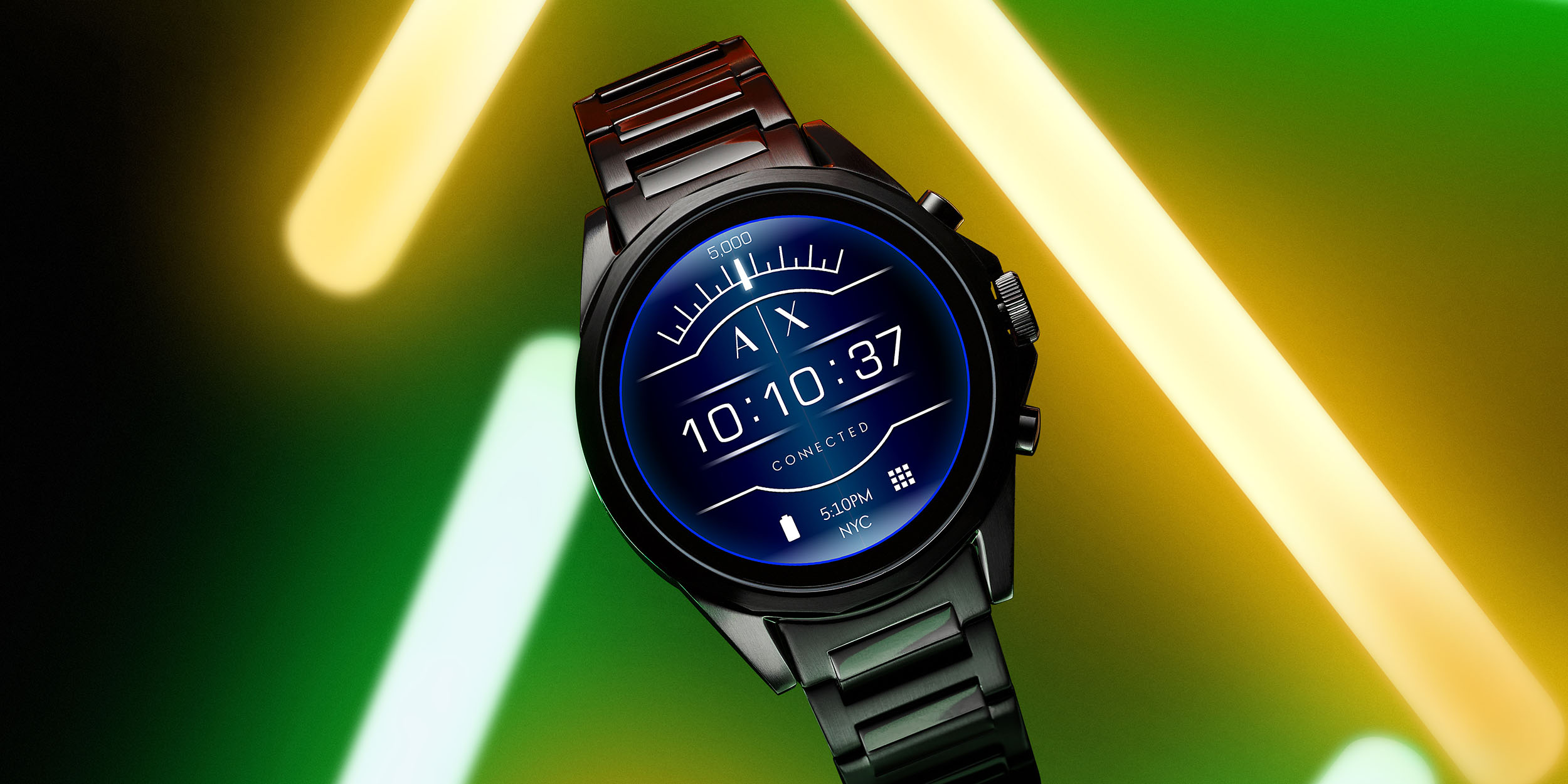 armani exchanged connected is the company s first smartwatch w wear os nfc heart rate more