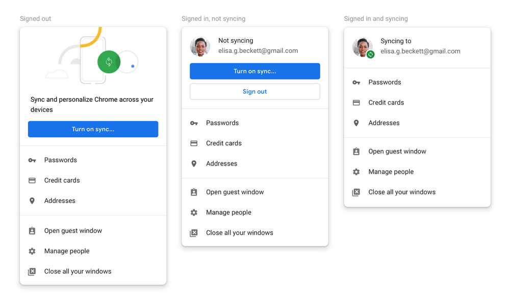 Google addressing account sign-in, cookie clearing