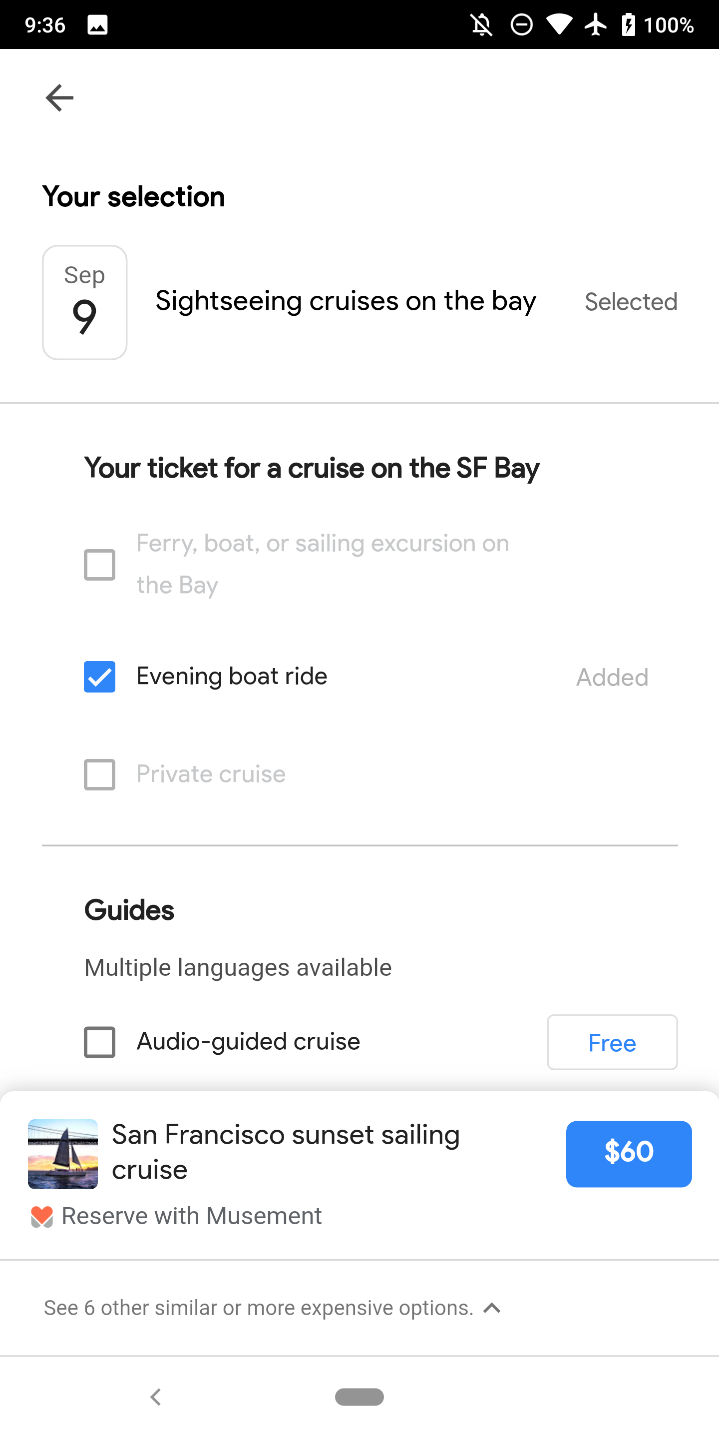 Touring Bird by Google Area 120 helps travelers find and customize