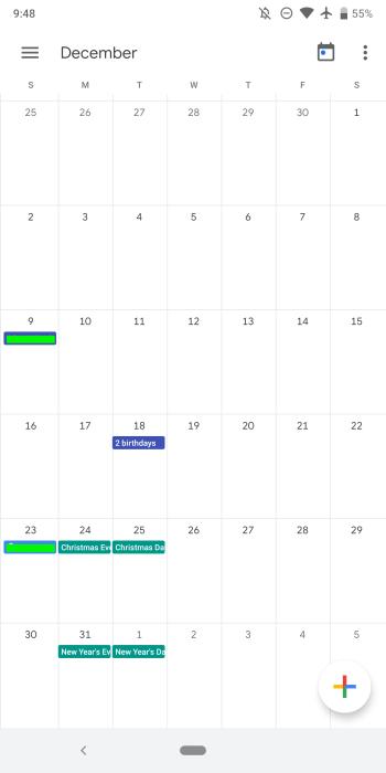 Google Calendar 6.0