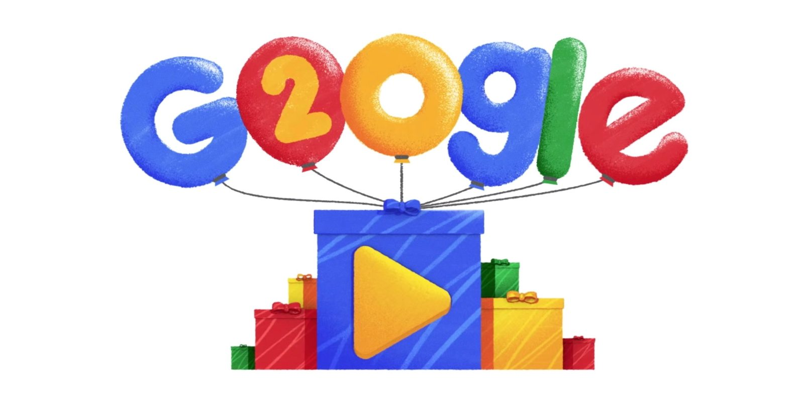 google s birthday doodle celebrates 20 years of popular searches