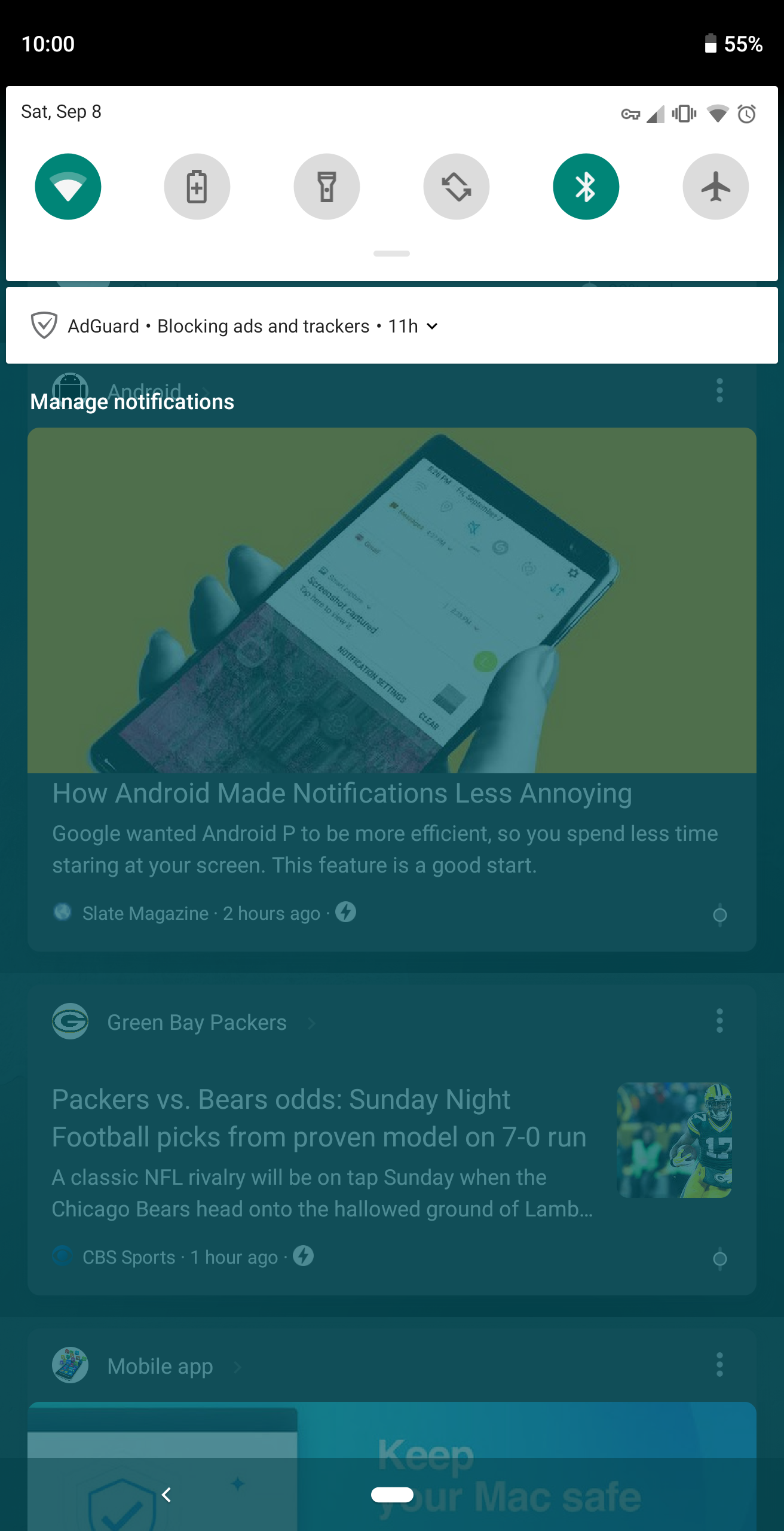 Google testing a dark theme for the Google Feed, including
