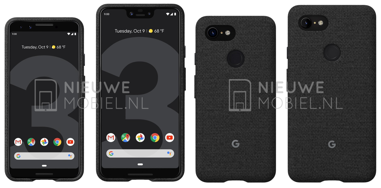 google pixel 3 and pixel 3 xl leak again in first purported official press renders