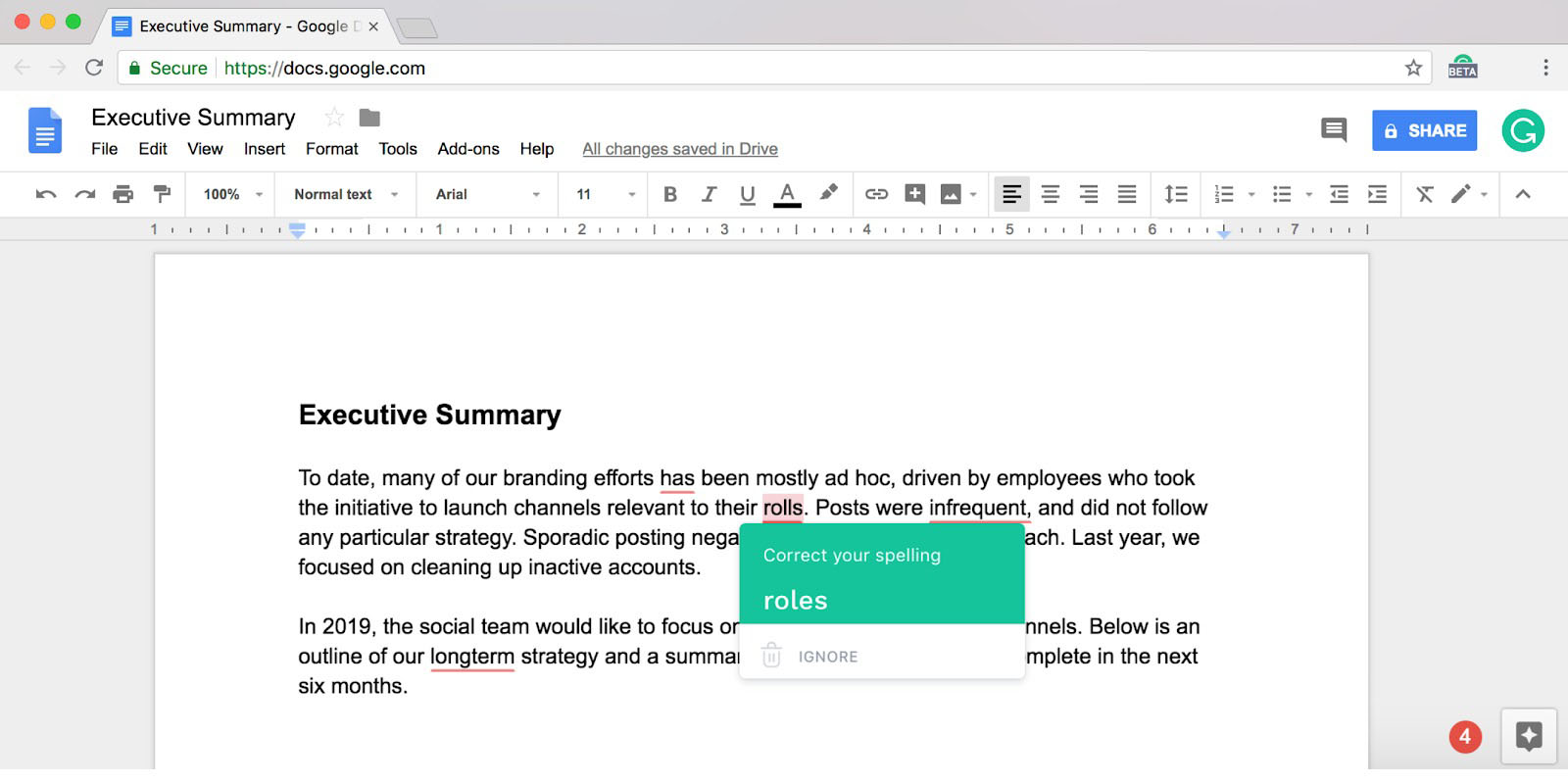 grammarly adds google docs support in beta for all users this week