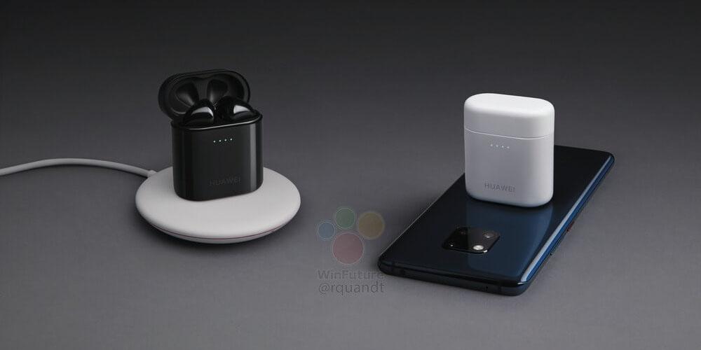 huawei mate 20 pro leaks w super slim bezels freebuds 2 pro charge wirelessly using phone