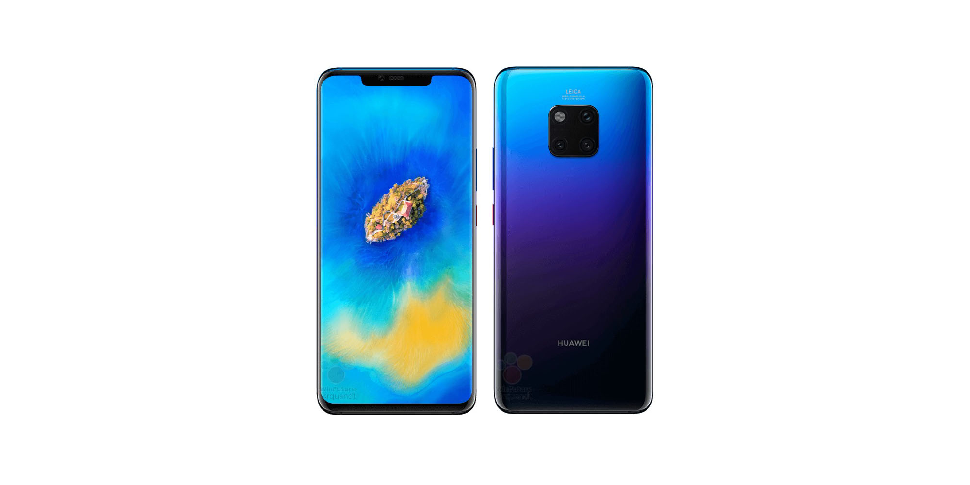 huawei confident that its kirin 980 is better than apple s a12 bionic as fresh mate 20 pro renders leak