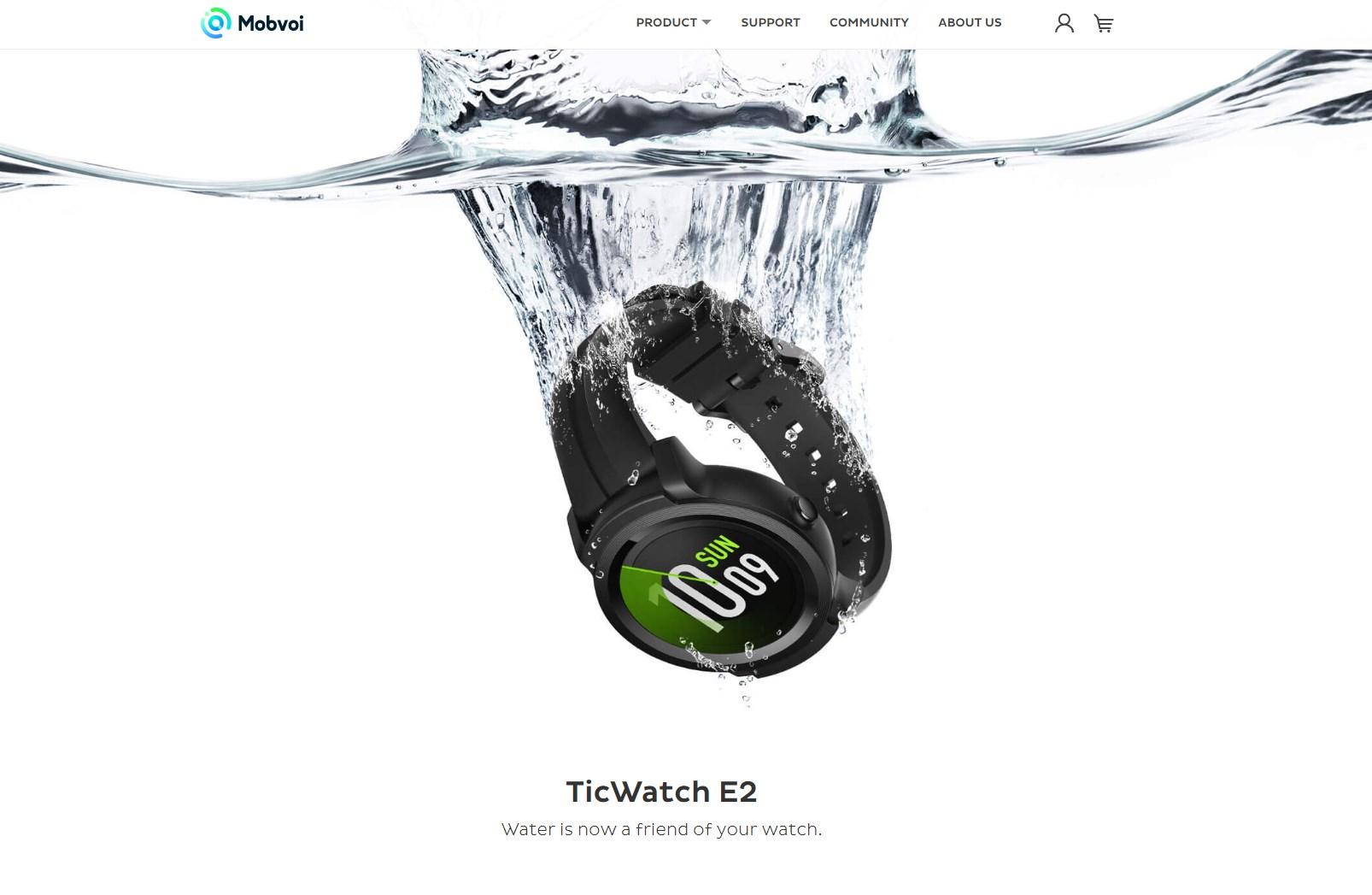 mobvoi ticwatch e2 teaser site