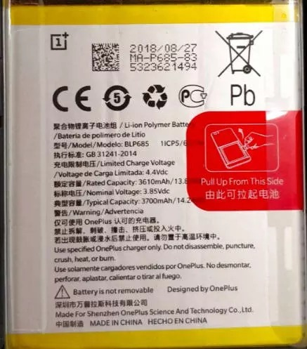 oneplus 6t battery