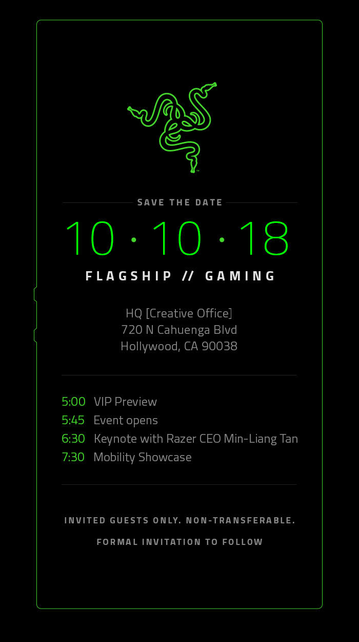 razer phone 2 save the date