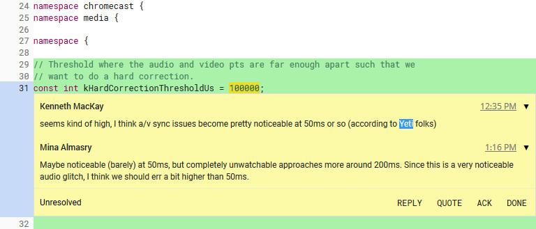 Chromium commit referencing Yeti