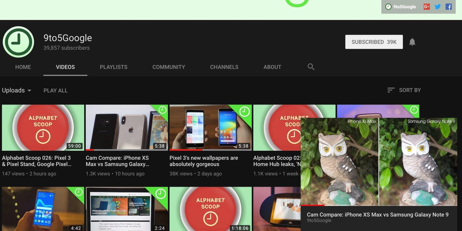 Youtube Miniplayer Rolling Out For Web Picture In Picture 9to5google
