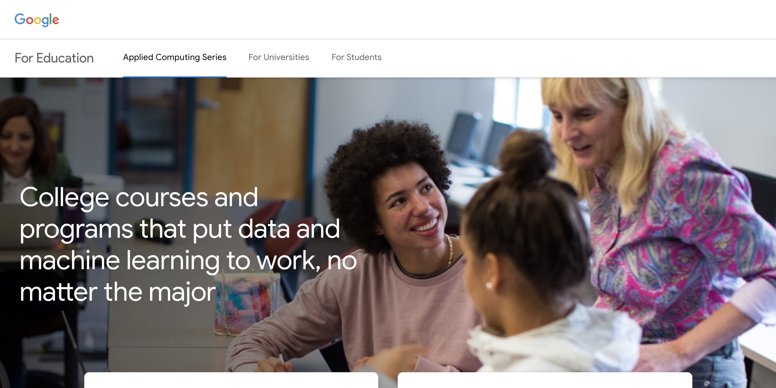 google pilots applied computing series w free machine learning intensive for students