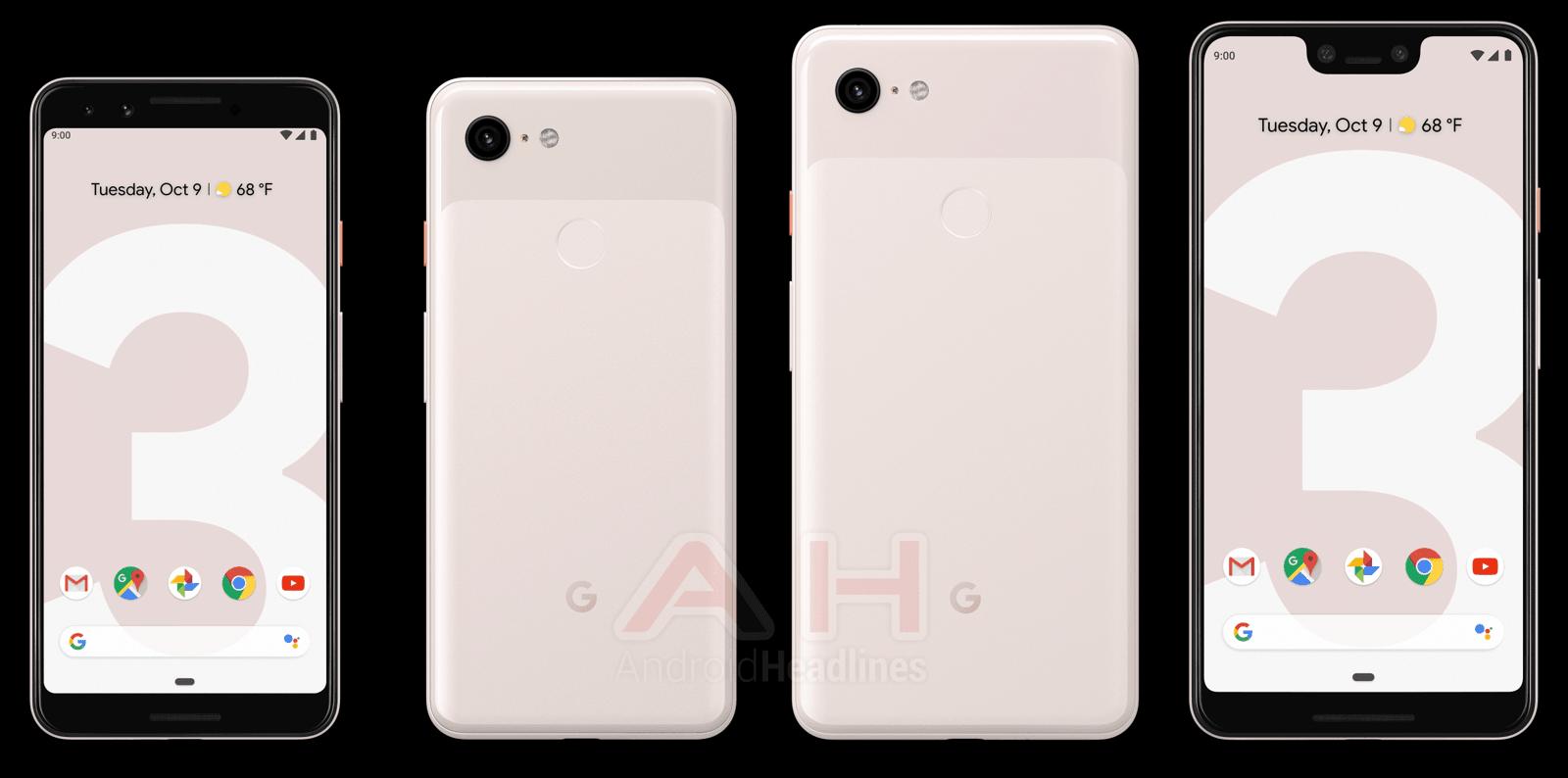 pink google pixel 3