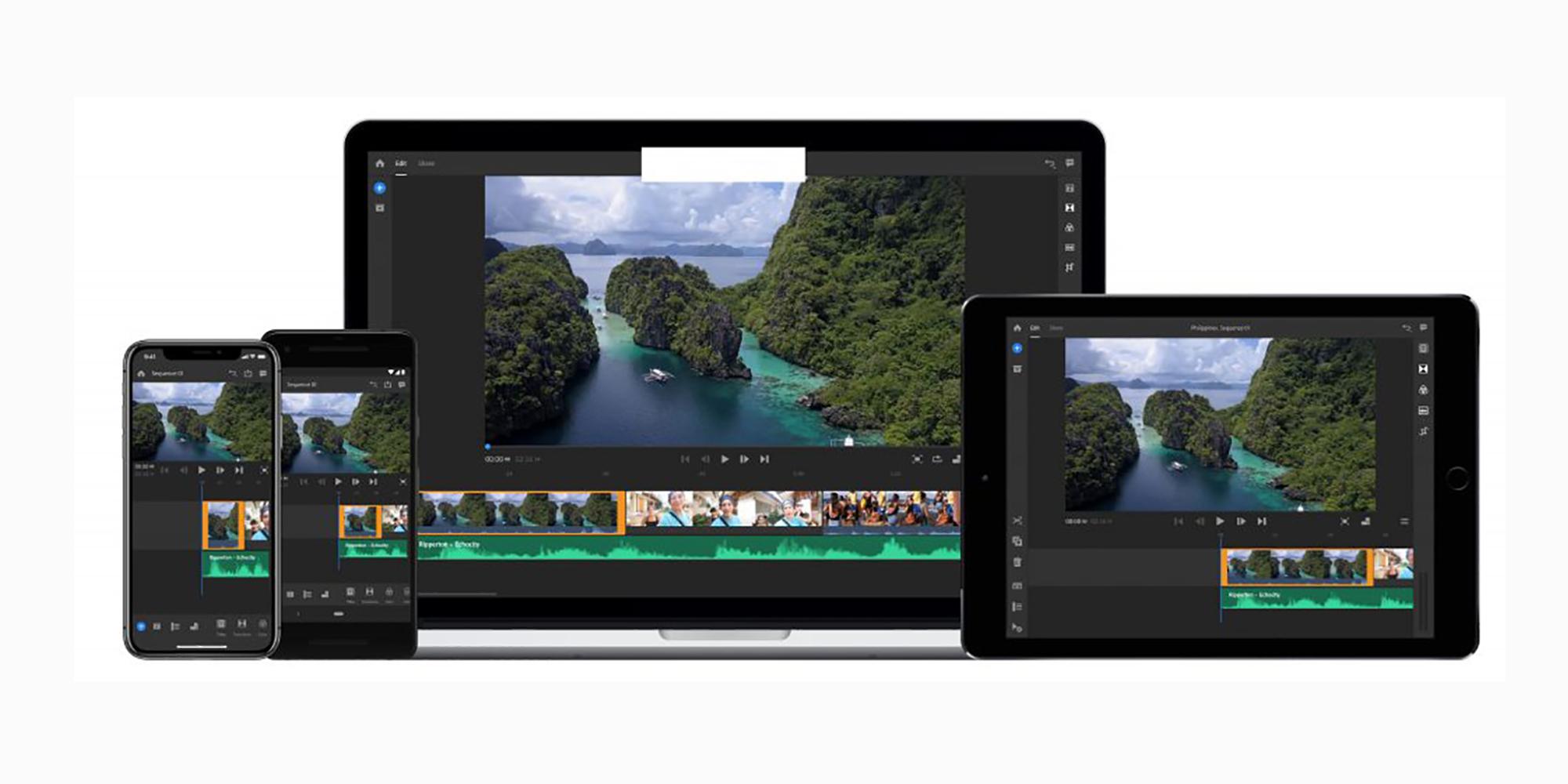 Adobe Premiere Rush CC startet 2019 auf Android, eine YouTube-basierte Videobearbeitungs-App