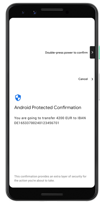 Android Protected Confirmation